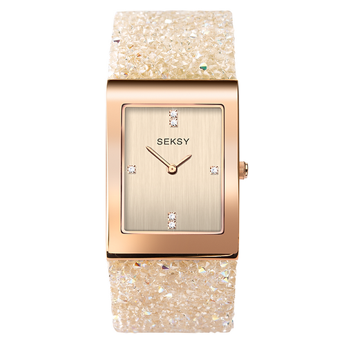 Seksy 2722 Rocks® Rose Gold Plated Bracelet Watch 2901833