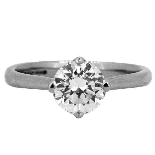 1.37ct Brilliant Cut Platinum Solitaire Diamond Engagement Ring 0101071