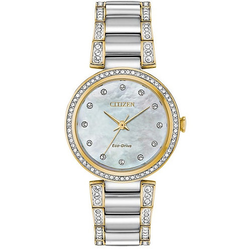 Citizen EM0844-58D Silhouette Crystal Ladies Two ToneEco-Drive Watch 2601136