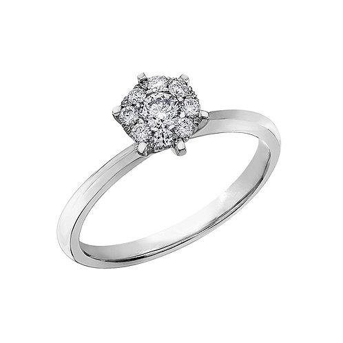 0.18ct Brilliant Cut 9kt White Gold Diamond Engagement Ring 0112231