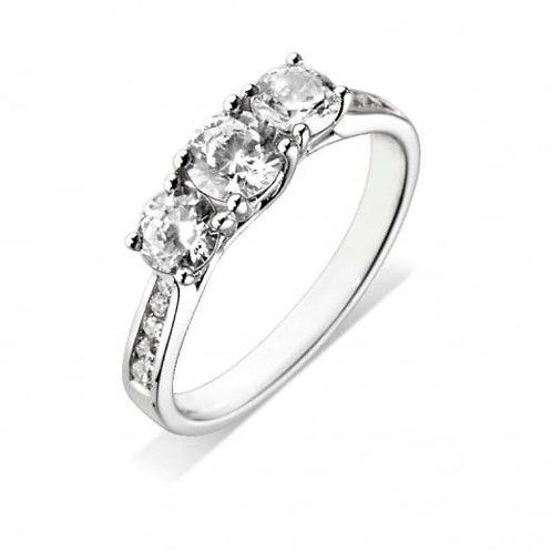 1.37ct Brilliant Cut Platinum Diamond Engagement Ring 0103146