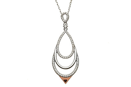 House of Lor H-40032 Sterling Silver and Rose Gold Necklace 1421082