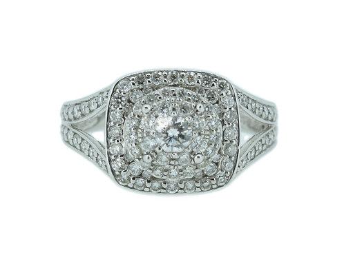 1 Carat Diamond Cluster Engagement Ring 0112110