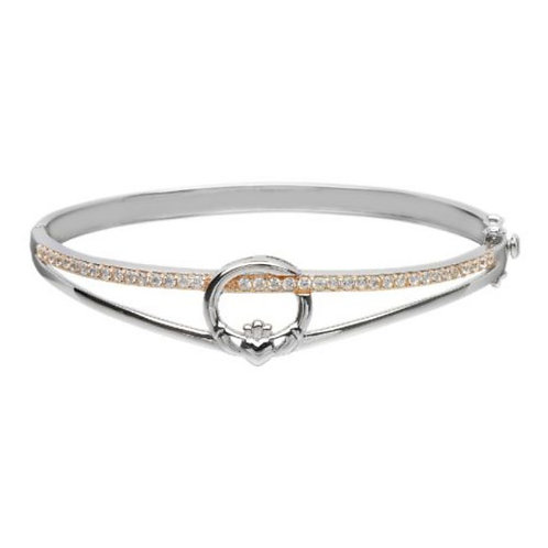 Claddagh sterling silver Bangle