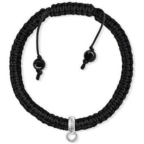 Thomas Sabo X0181 Silver Bead Adjustable Cord Bracelet 3311080