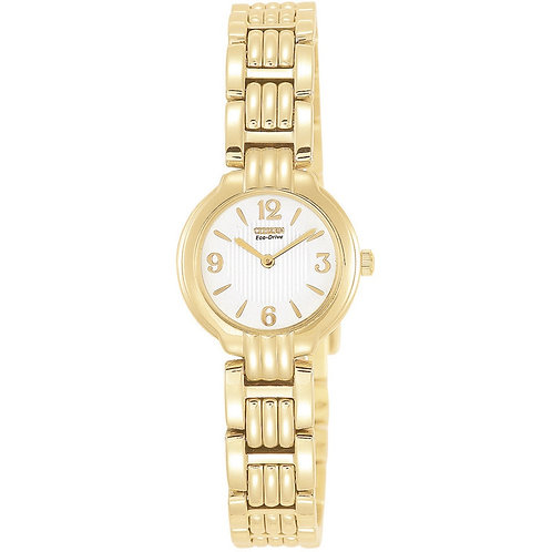 Citizen EW8692-58A Ladies Gold Tone Eco-Drive Watch 2601018