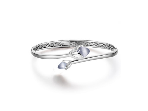 Magnolia cat's eye stone and cubic zirconia bangle 4504012