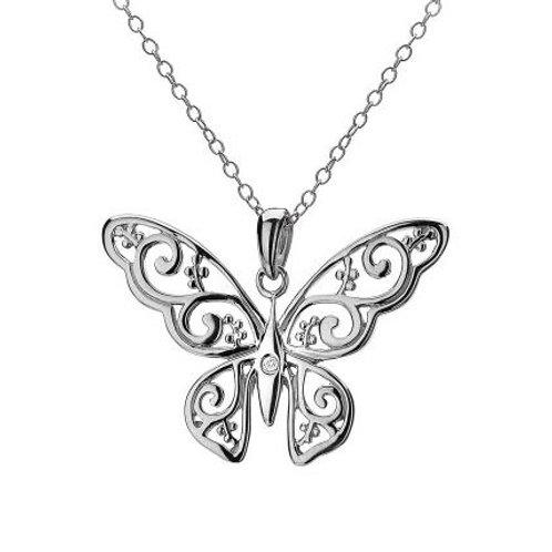 Hot Diamonds DP317 Sterling Silver Levanter Butterfly Pendant 3001130