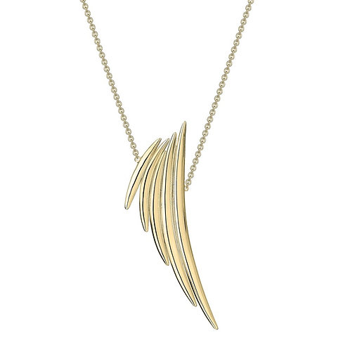 Quill gold vermeil Necklace crafted in sterling silver 1407537