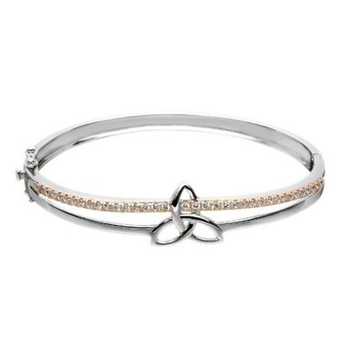 Trinity Knot sterling silver Bangle