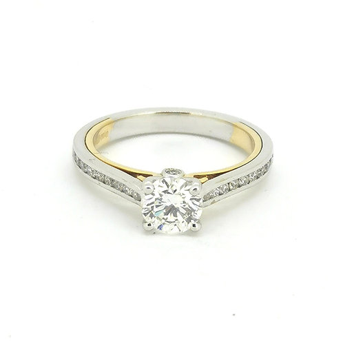 1.16ct F Colour 18kt Gold Solitaire Diamond Engagement Ring 0101179