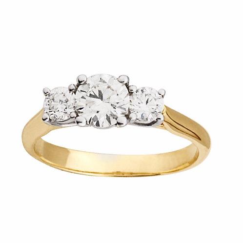 1.28ct Brilliant Cut 18kt Gold Diamond Halo Engagement Ring 0103134