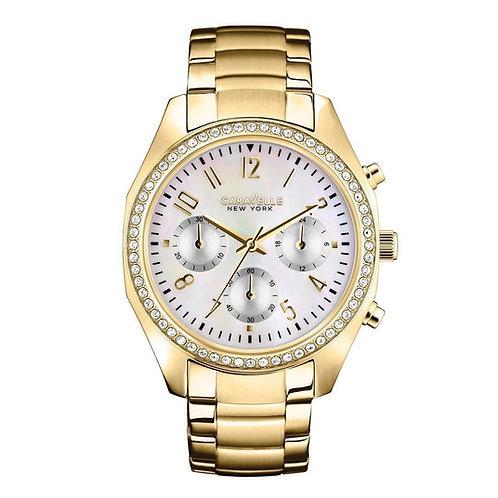 Caravelle New York 44L114 Ladies Gold Tone Chronograph Quartz Watch 2901564
