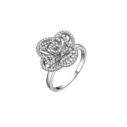 Cascade mini ring sterling silver with rhodium 4503009