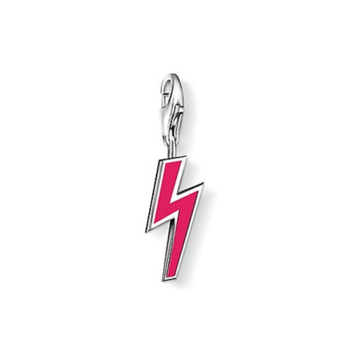 Thomas Sabo 0725 Pink Lightening Bolt Silver Charm 3310725