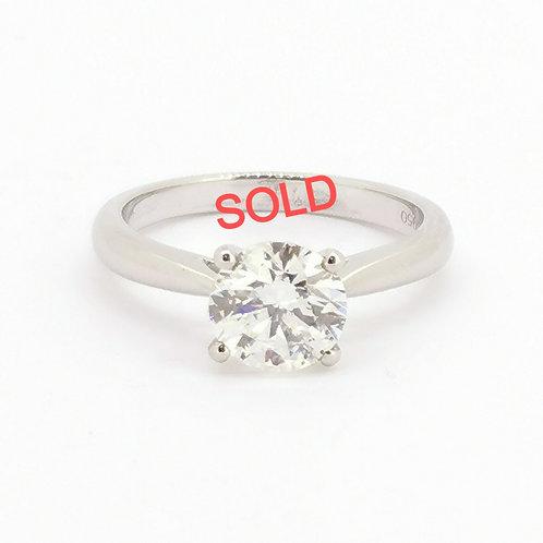 1.58ct Brilliant Cut Platinum Solitaire Diamond Engagement Ring 0101191