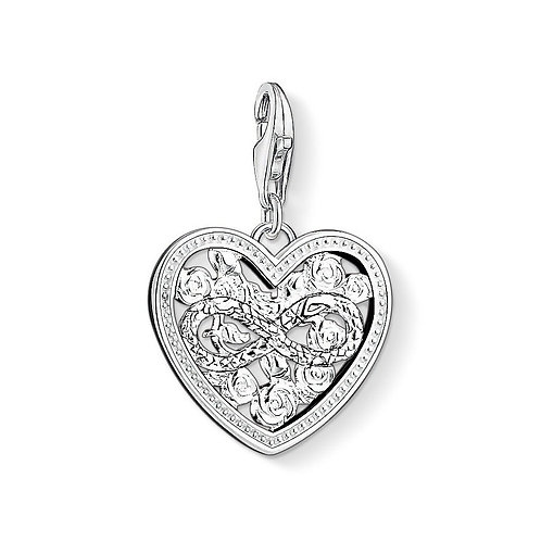 Thomas Sabo 1315-051-14 Infinity Roses Heart Silver Charm 3321315