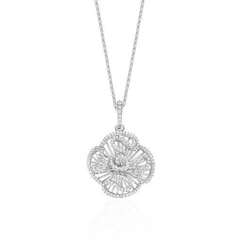Cascade stud pendant in rhodium vermeil 4501003