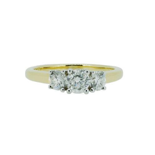 0.94ct Brilliant Cut 18kt Gold Diamond Engagement Ring 0103154