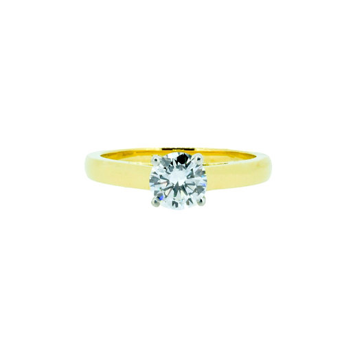 0.71ct Brilliant Cut 18kt Yellow Gold Solitaire Engagement Ring 0101136