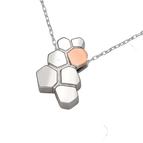 House of Lor Sterling Silver & Irish Rose Gold CARIC Necklace