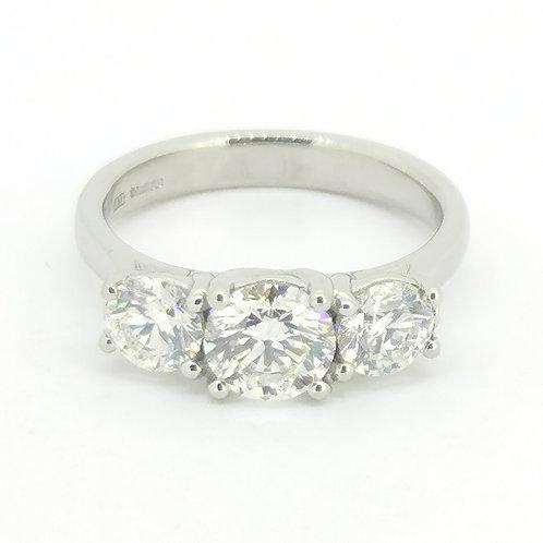 2.00ct Brilliant Cut Platinum Diamond Engagement Ring