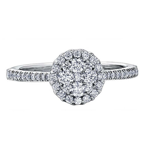 0.75ct Brilliant Cut 18kt White Gold Diamond Engagement Ring 0112227