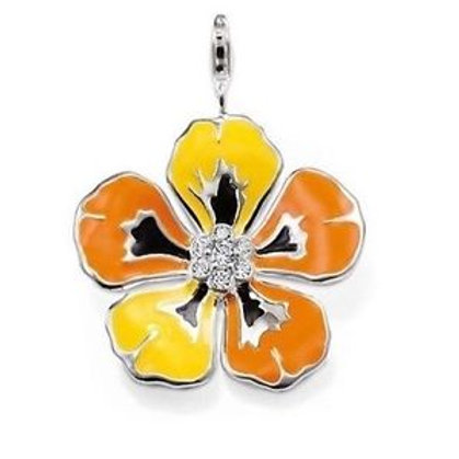 Thomas Sabo T0205-041-8 Sterling Silver Flower Pendant 3301274