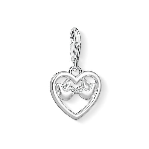 Thomas Sabo 1383-051-14 Heart with Doves Silver Charm 3321383