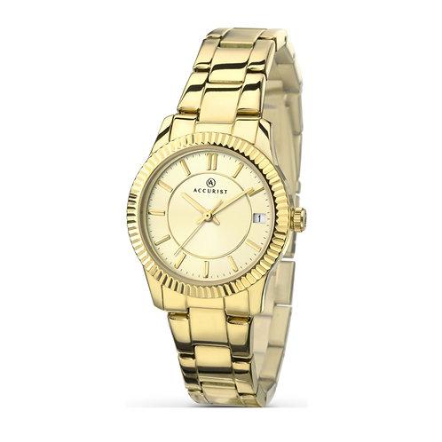 Accurist 8012 Ladies Gold Tone Quartz Watch 2701010