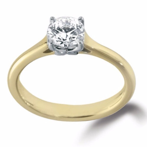1.01ct Brilliant Cut 18kt Gold Solitaire Diamond Engagement Ring 0101120