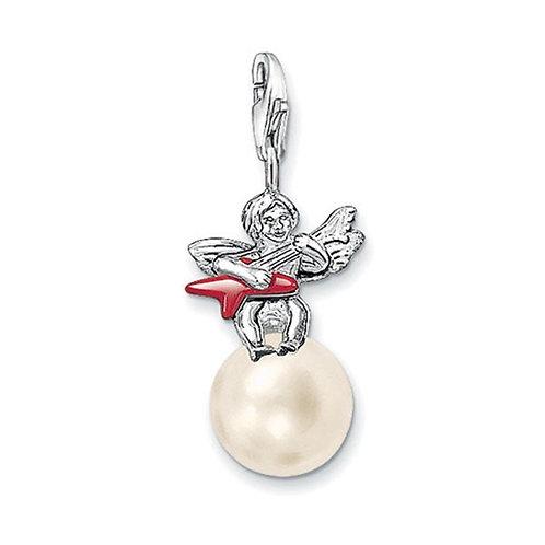 Thomas Sabo 0620 Angel on Pearl Silver Charm 3310620