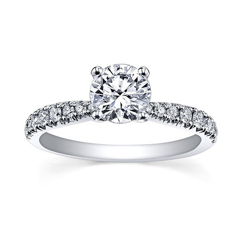 Circle of Love 0.80ct Pure 18kt White Gold Diamond Ring 0101180