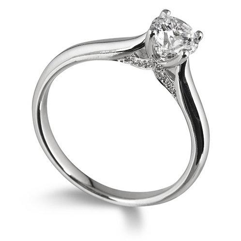 FLAWLESS Diamond 0.80ct Platinum Solitaire 0101047