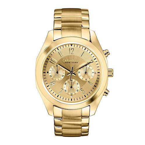Caravelle New York 44L118 Ladies Gold Tone Chronograph Quartz Watch 2901567