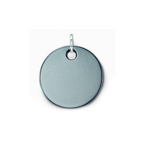 Thomas Sabo PE428-064-11 Sterling Silver Hematite Small Disc Pendant 3301471
