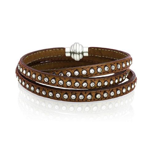 Sif Jakobs BR1726/1-BR Sterling Silver Leather Bracelet 4705006