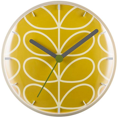 Orla Kiely Linear Stem Wall Clock Dandelion
