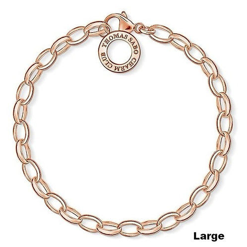 Thomas Sabo X0031 Silver Link Large 20.5cm Charm Bracelet 3311090