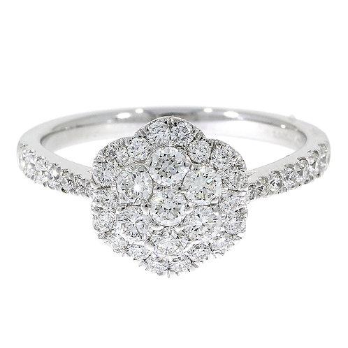0.72ct Brilliant Cut Platinum Diamond Engagement Ring 0105260