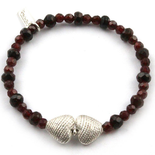 Chlobo GBIHFaceted Heart Sterling Silver Bracelet 1405510