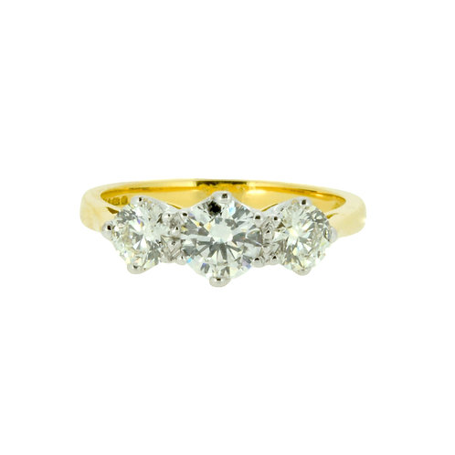 1.25ct Brilliant Cut 18kt Gold Diamond Halo Engagement Ring 0103007