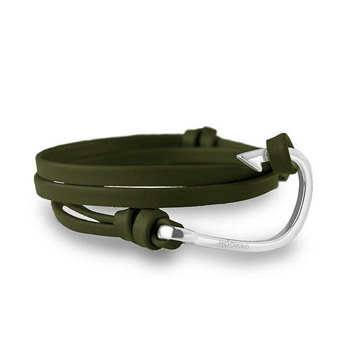 Hooked HSL5 Silver - Green leather 3805098