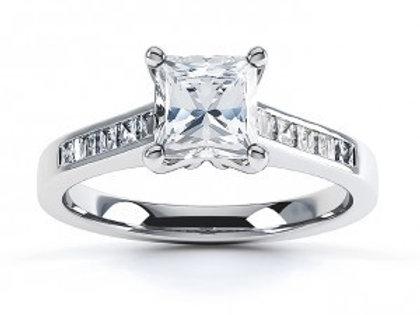 1.09ct Priness Cut Platinum Solitaire Diamond Engagement Ring 0101146