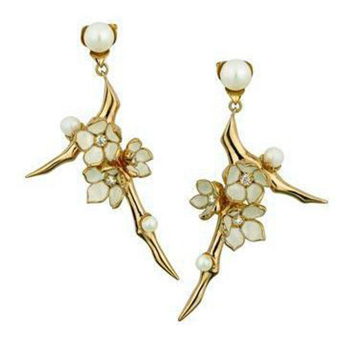 Cherry Blossom Topaz Gold Vermeil crafted in sterling silver Earrings 1402760