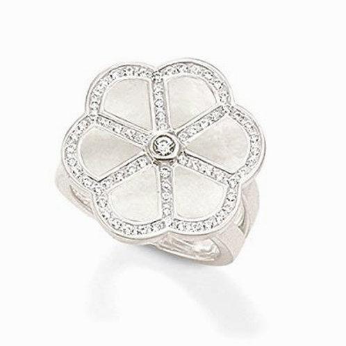 Thomas Sabo TR1698-1-191 White MOP Sterling Silver Ring 3303112