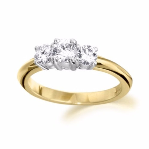 0.78ct Brilliant Cut D Colour 18kt Gold Diamond Engagement Ring 0103133