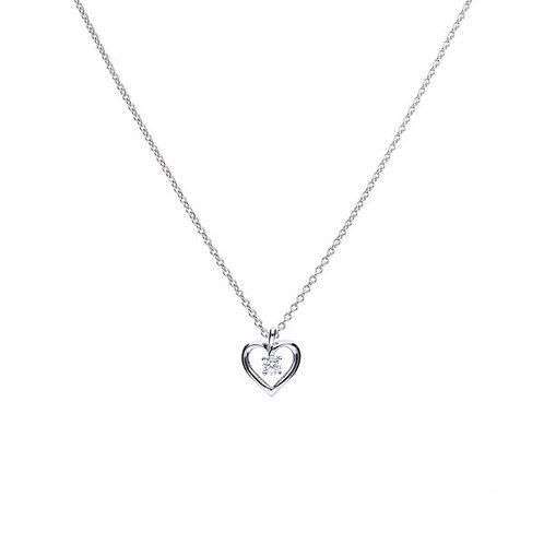 DIAMONFIRE OPEN HEART STERLING SILVER PENDANT