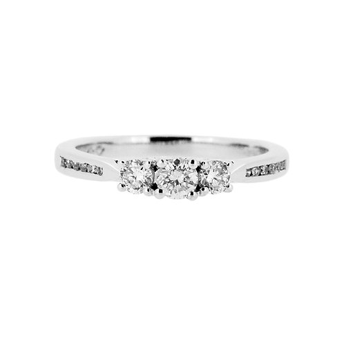 0.45ct Brilliant Cut 18kt Gold Diamond Halo Engagement Ring 0103163