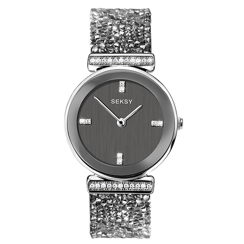 Seksy 2657 Rocks® Rhodium Plated Bracelet Watch 2901815